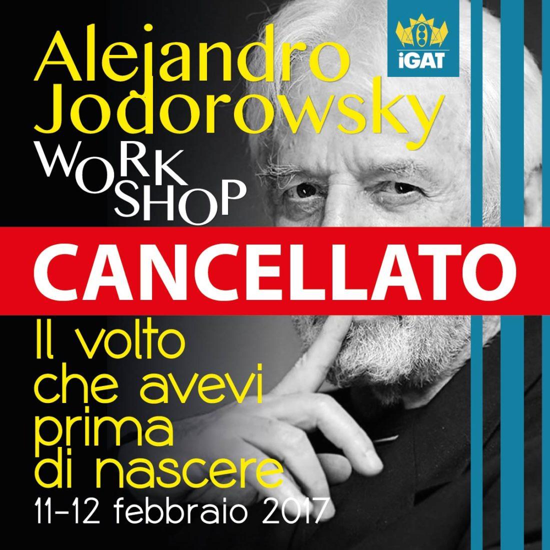 Cancellato il workshop di  Jodorowsky