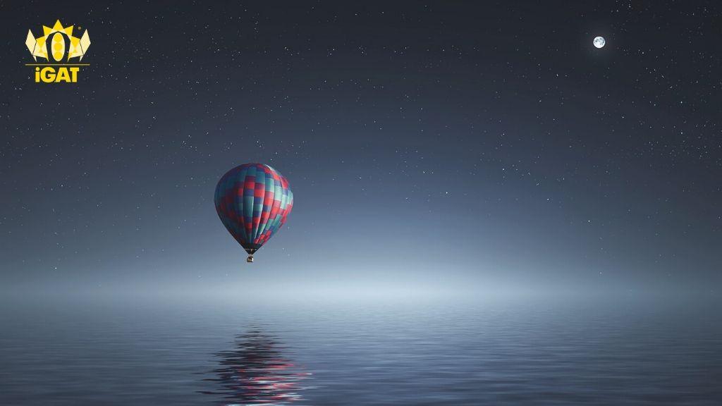 sogno paziente blu universo mongolfiera igat airbaloon